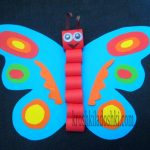 бабочка аппликация из бумаги