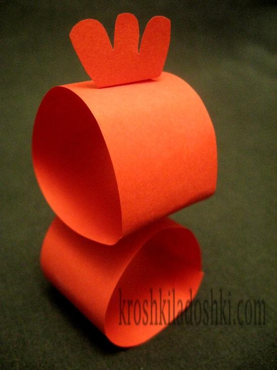 курочка из бумаги шаблон