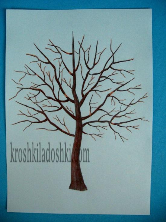 шаблон дерева без листьев