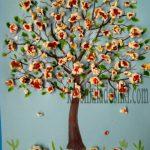 аппликация весеннее цветущее дерево