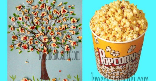 цветущее дерево из попкорна