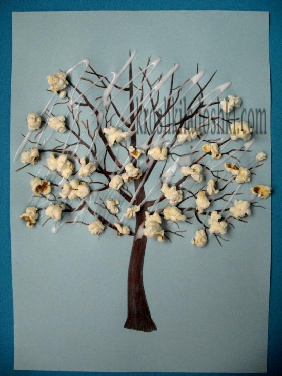 весеннее дерево аппликация