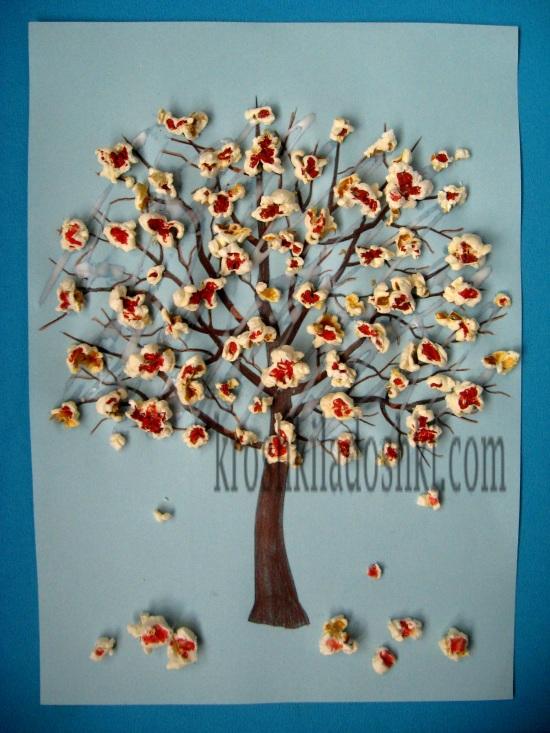 весеннее цветущее дерево для детей