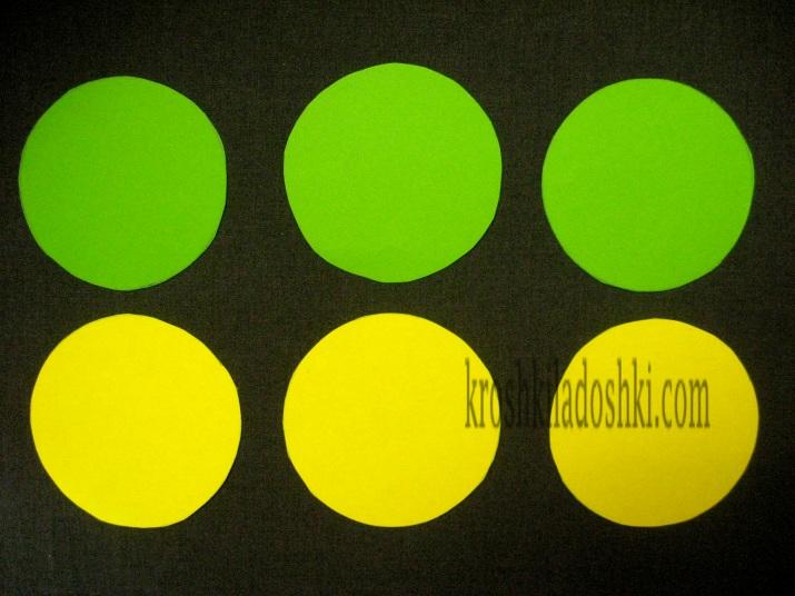 аппликации из кругов и полукругов