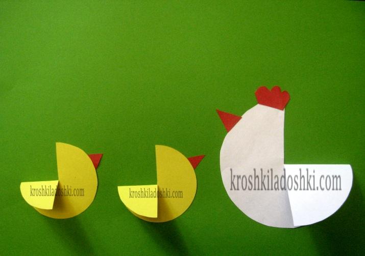 аппликация курочка с цыпленком