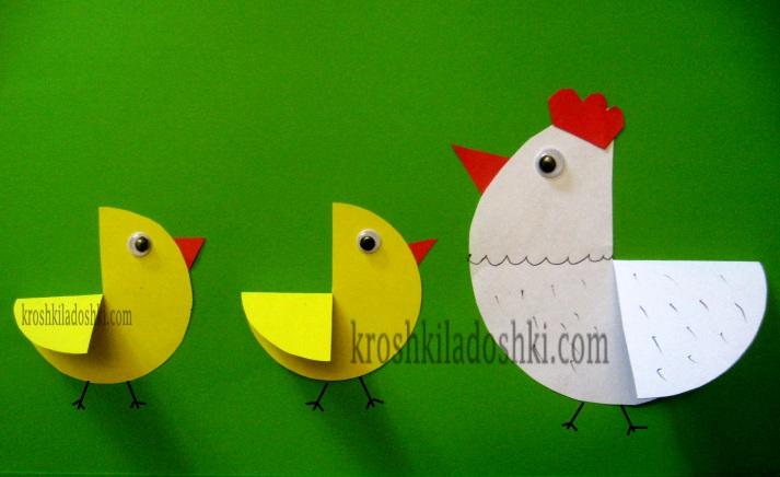 курочка с цыплятами поделка