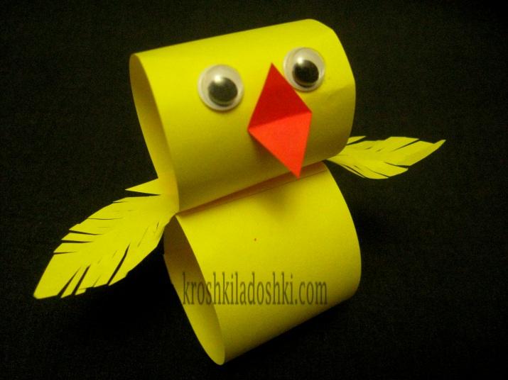 как сделать цыпленка из цветной бумаги