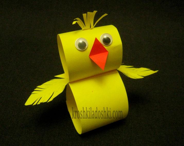 цыпленок из цветной бумаги