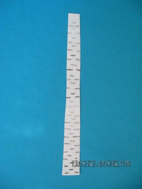 как сделать ствол березы из бумаги