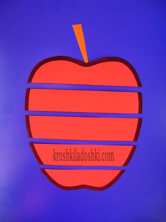 яблоко аппликация