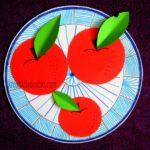 аппликация яблоки