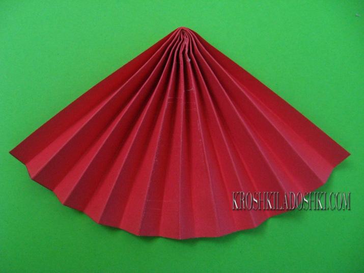 как сделать шляпку мухомора из бумаги