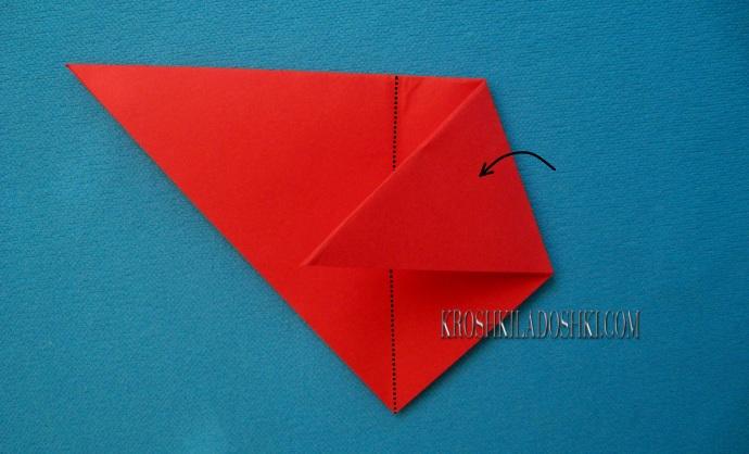 схема мухомор оригами