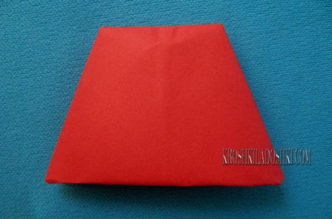 схема оригами мухомор