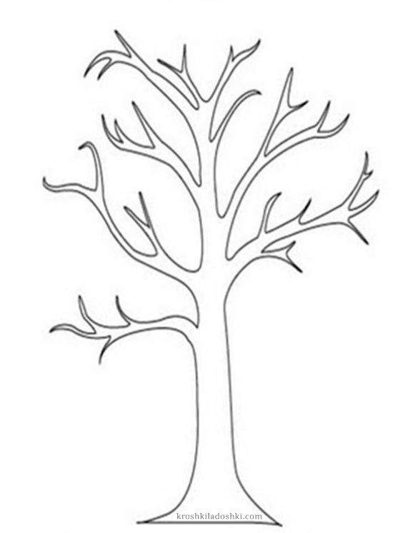 макет дерева для вырезания