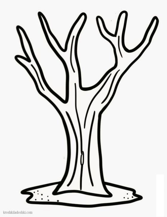 трафарет дерева для вырезания