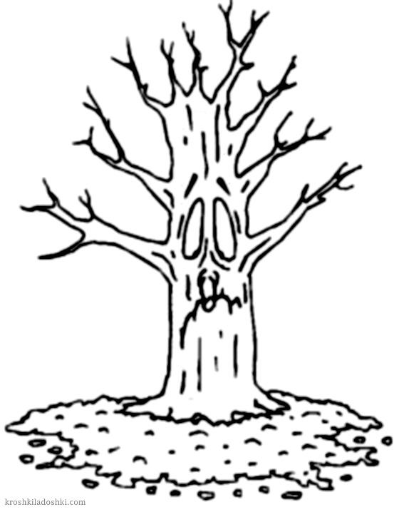 дерево с лицом шаблон