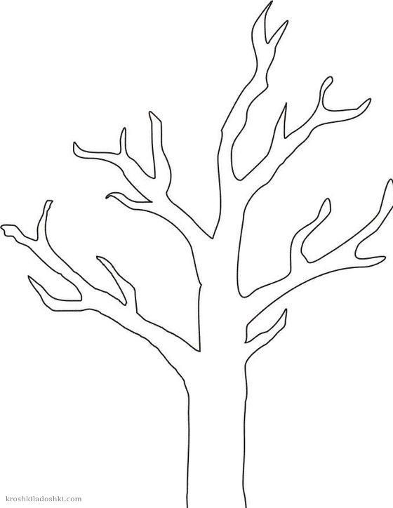 шаблон дерева с кривыми ветками