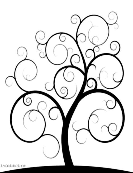макет ажурного дерева