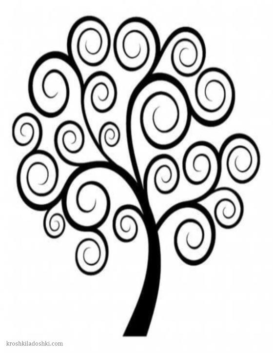 шаблон ажурного дерева