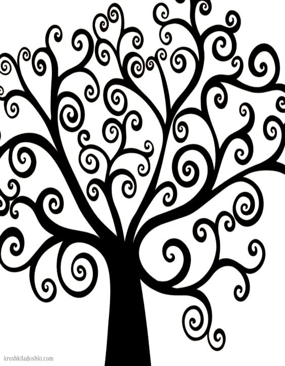 трафареты деревьев для аппликаций
