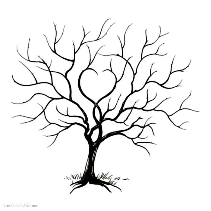 сердечное дерево шаблон