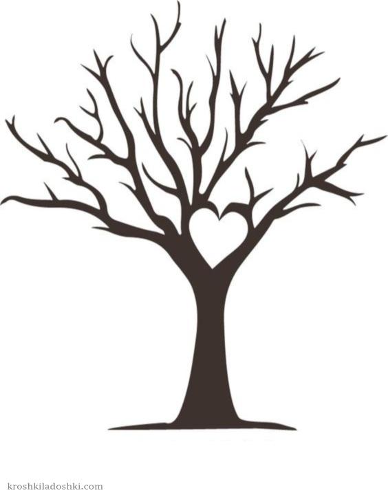 макет сердечного дерева