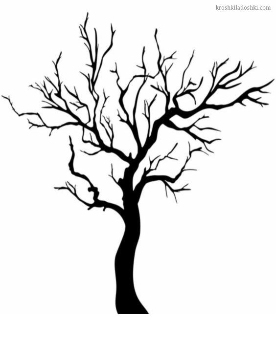 трафарет дерева скачать