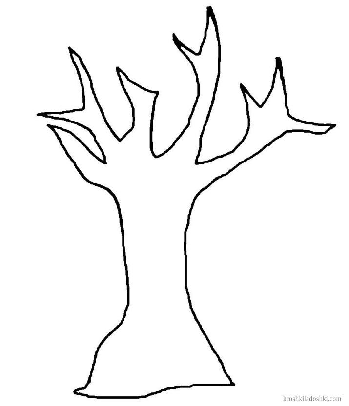 шаблон дерева для вырезания