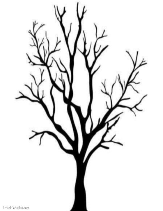 шаблоны деревьев для поделок