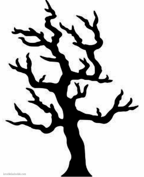 макет страшного дерева