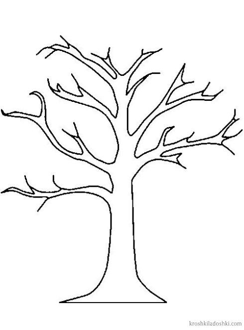 шаблон дерева для поделок