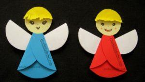 бумажные ангелы своими руками