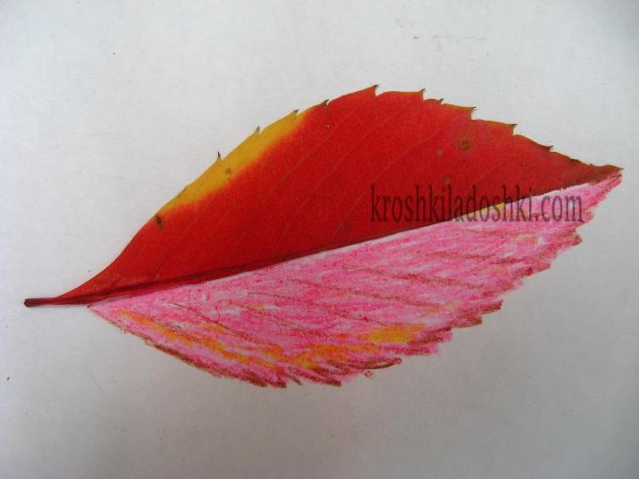 дорисуй вторую половинку листья