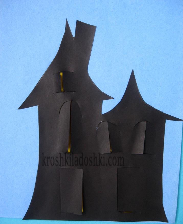 шаблон дома на хэллоуин