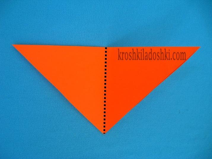 схема оригами лиса