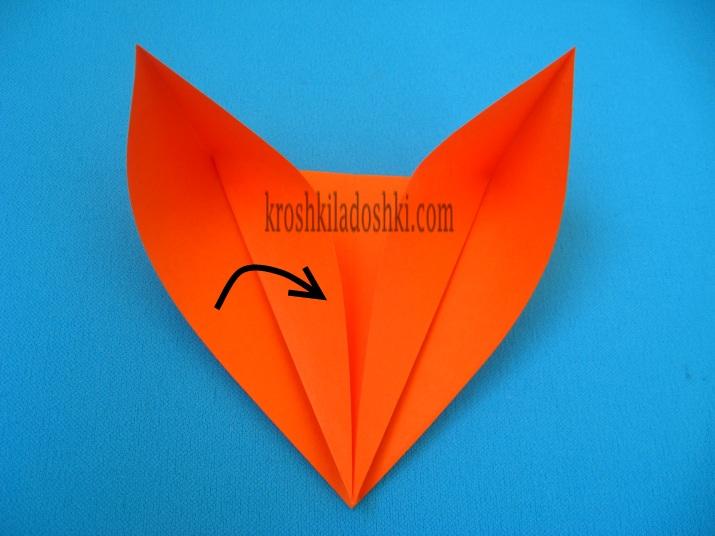 схема лиса оригами