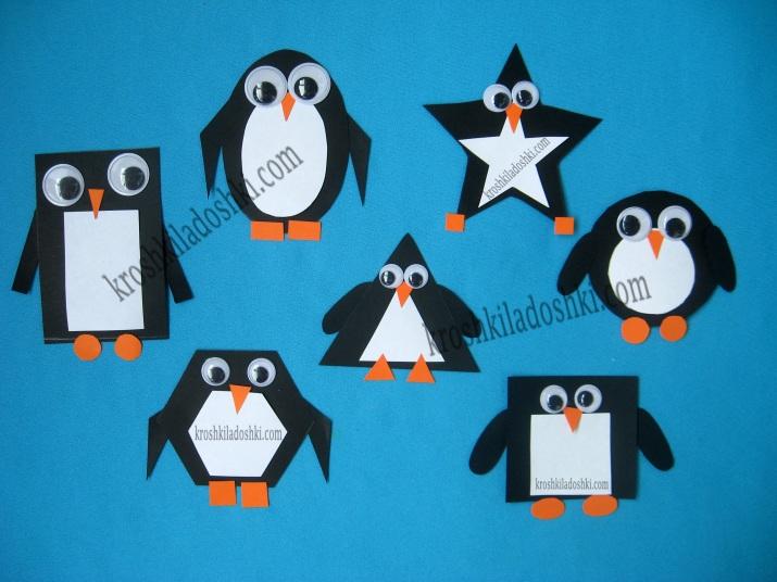 пингвин из геометрических фигур