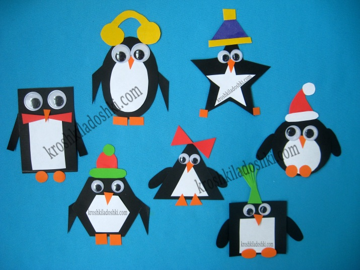 аппликация пингвин