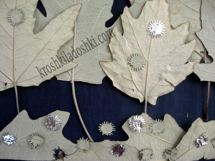 аппликация из листьев для детей