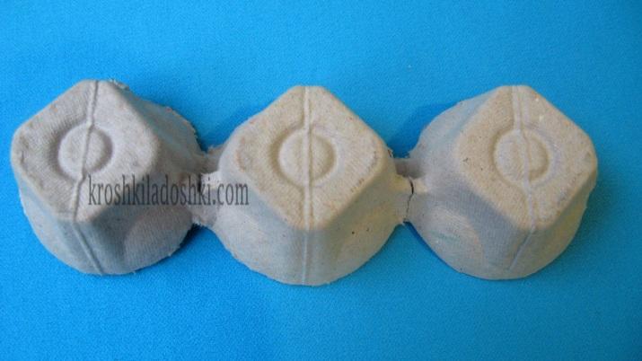 поделки из яичных лотков