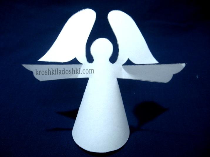 бумажный ангел шаблон