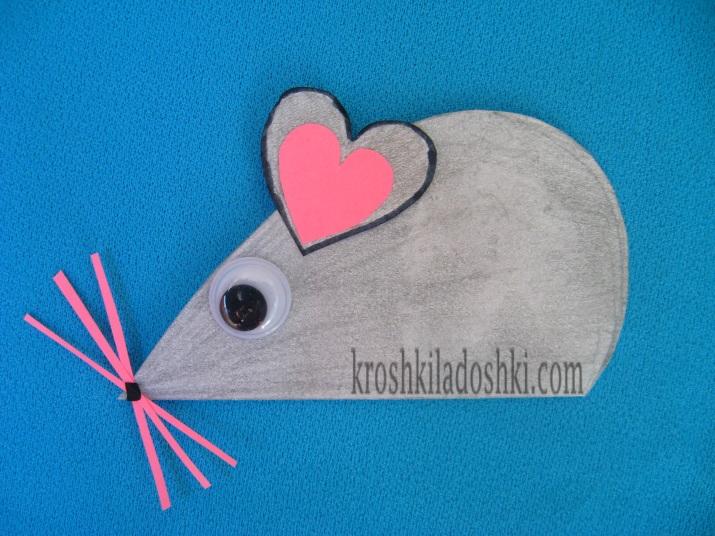 мышка из сердечек