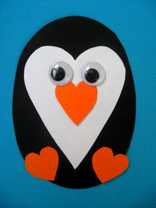 пингвин из сердечек