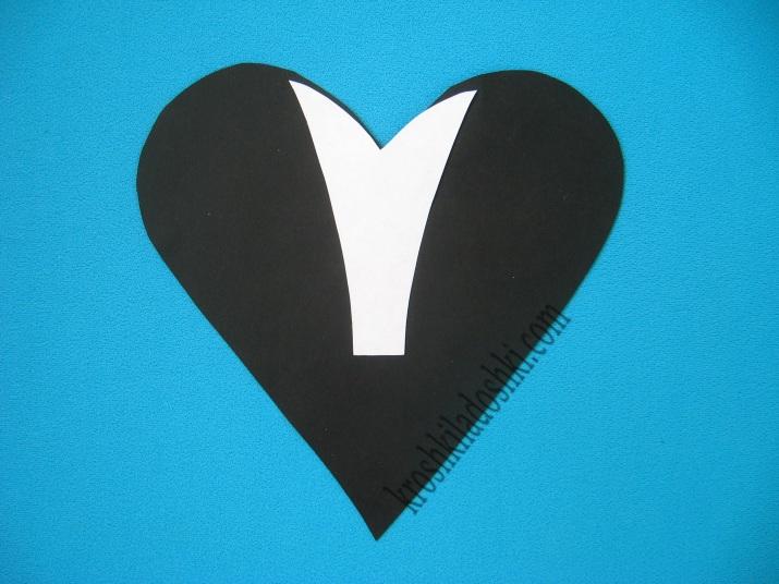 аппликация из сердец скунс