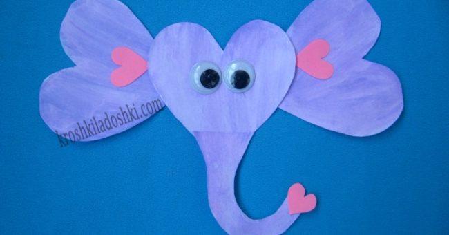 слон аппликация для детей