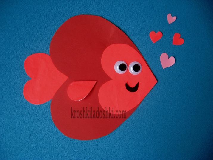 рыба из сердечек