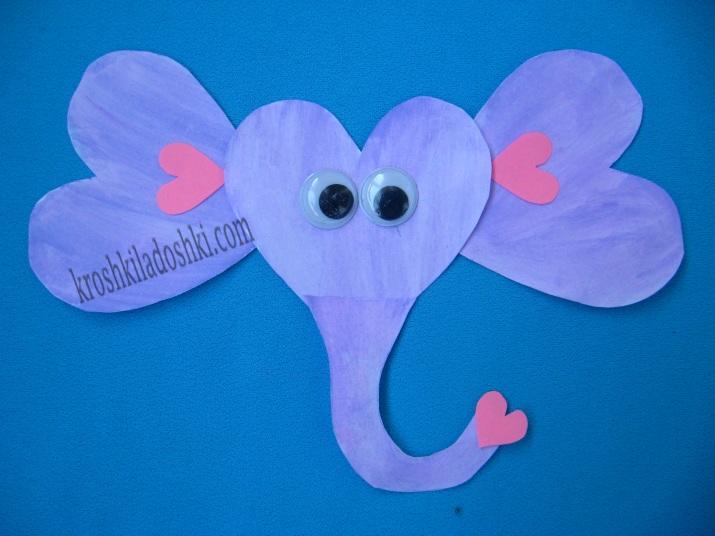слон из сердечек
