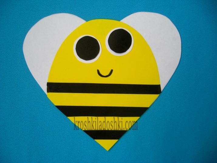 пчелка из цветной бумаги