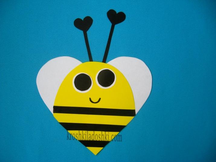 пчелка из сердечек